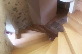Rénovation de l'escalier d'une vieille bâtisse