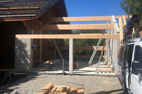 Avant /Après extension d'un garage
